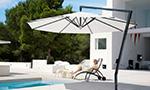Sonnenschirm Seitenmastschirm Ampelschirm Amalfi in weiss rund von Caravita