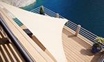 Sonnensegel Home Comfort von Caravita in weiss Dachterrasse